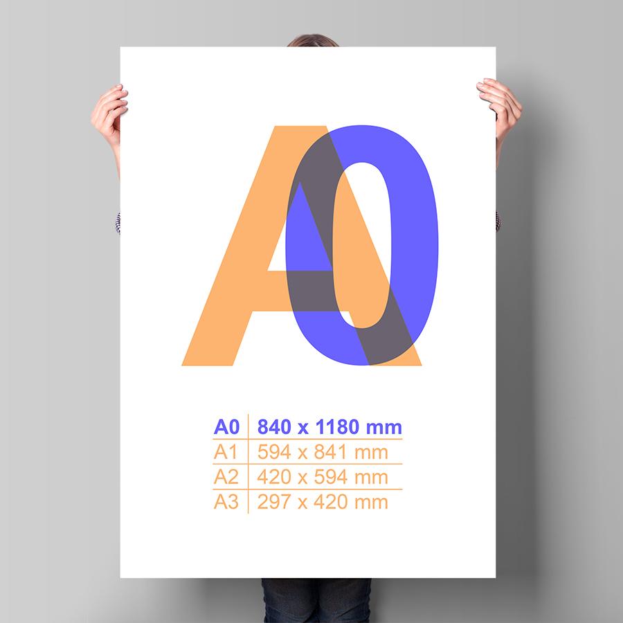 Plagát A0 na výšku