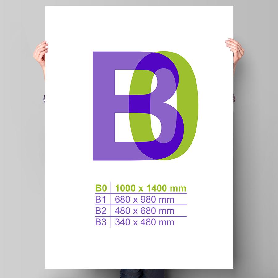 Plagát B0 na výšku