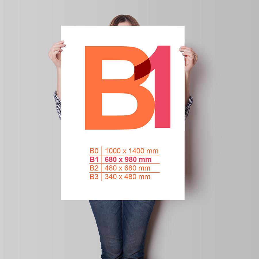 Plagát B1 na výšku