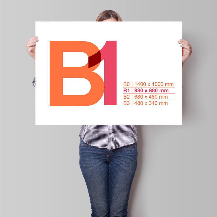 Plagát B1 na šírku