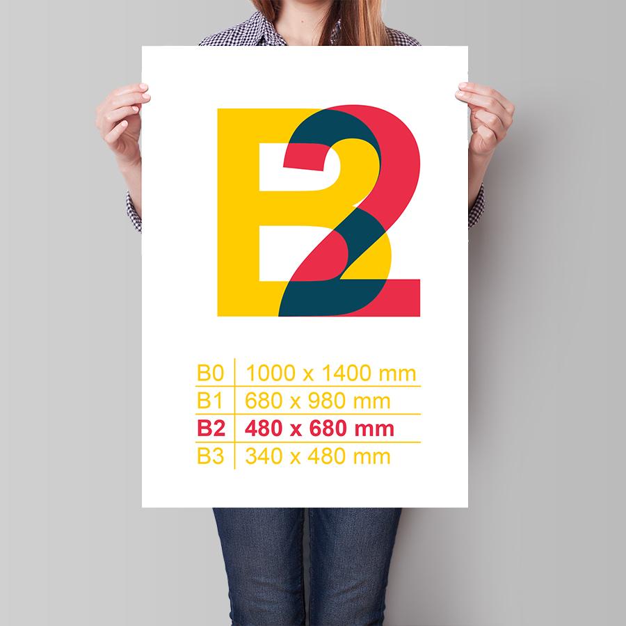 Plagát B2 na výšku