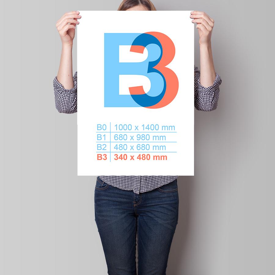 Plagát B3 na výšku
