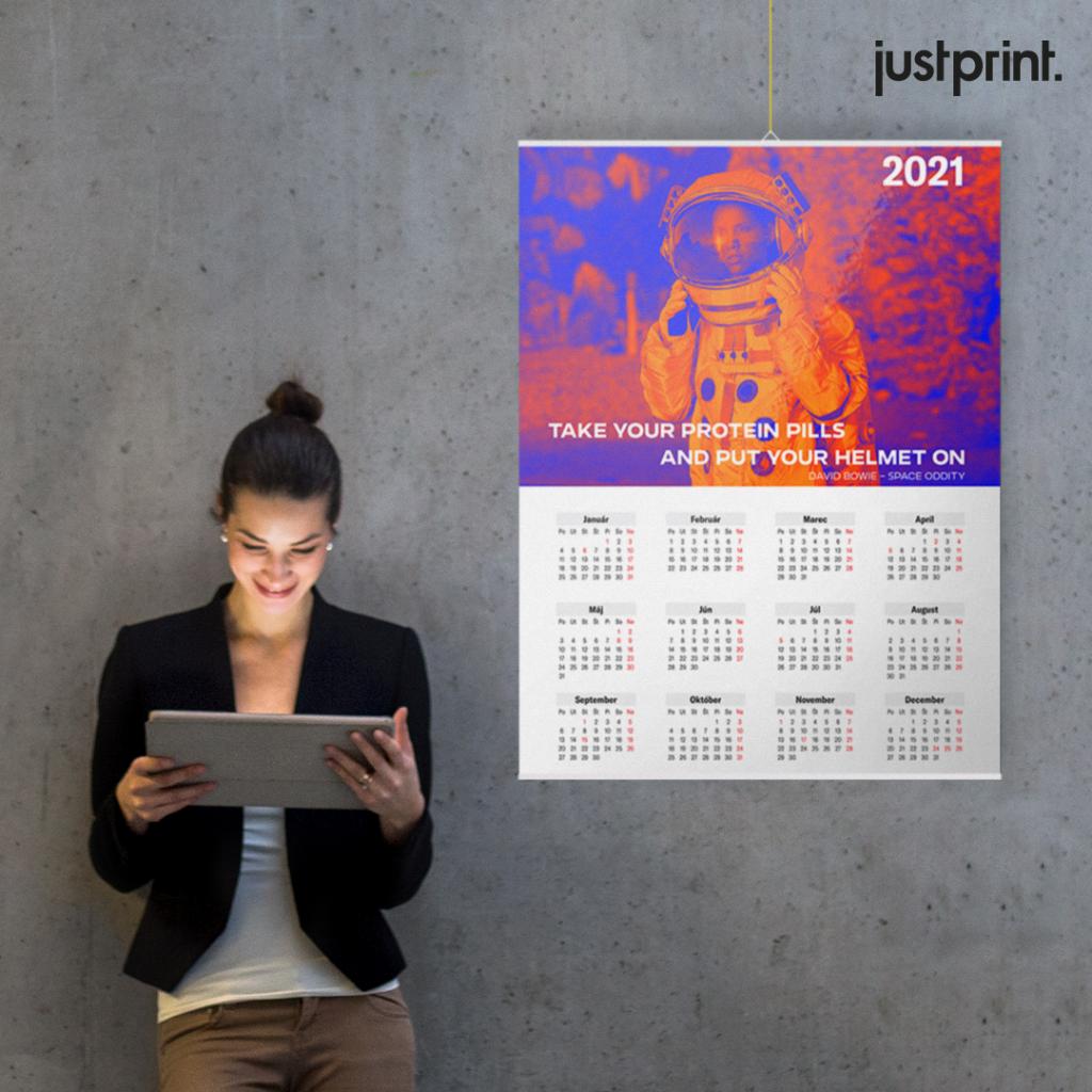 Nástenný kalendár s lištou