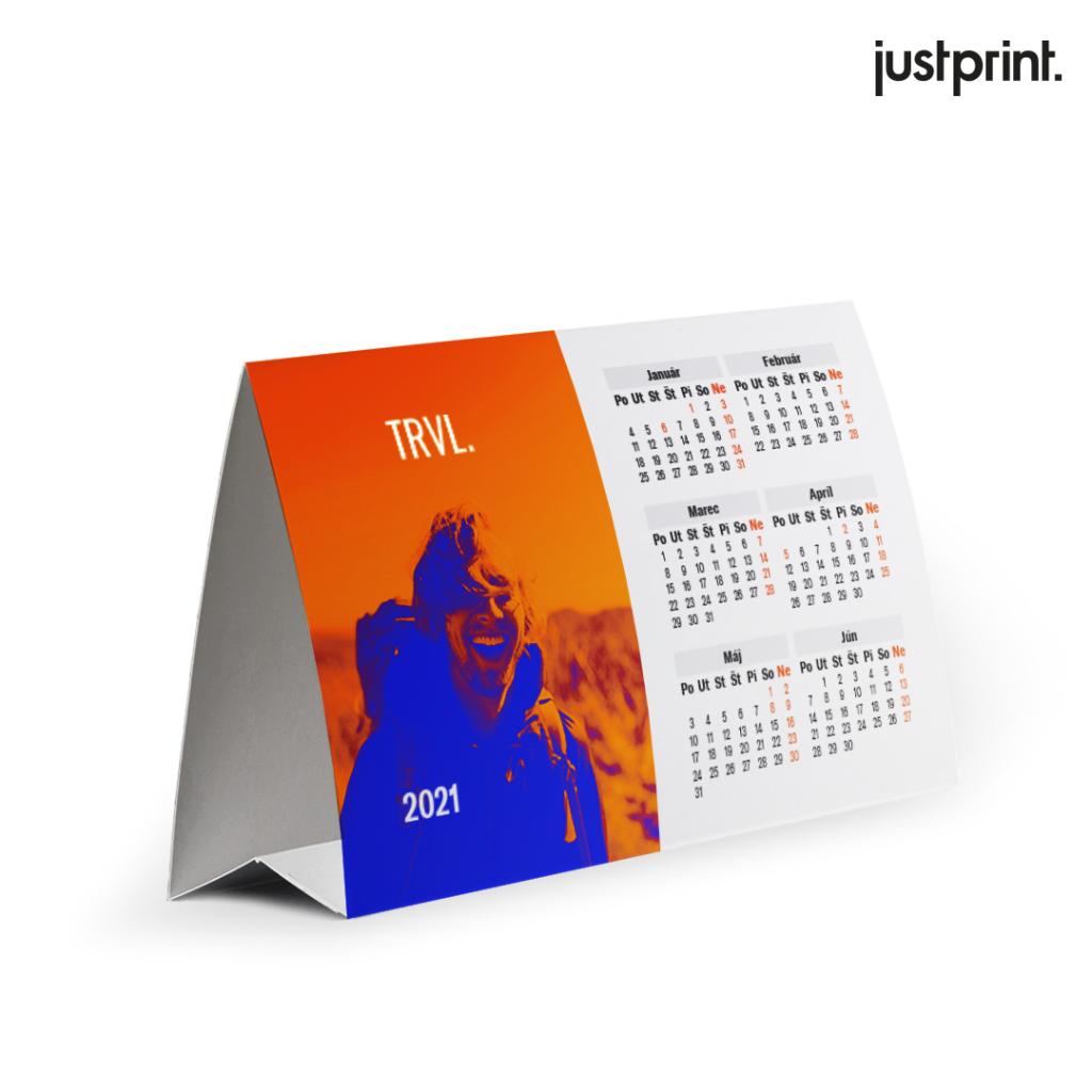 Stolový kalendár vo forme pyramídy