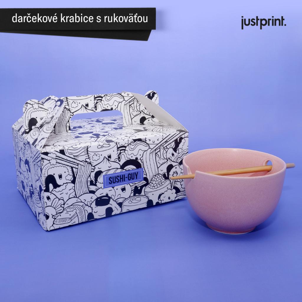 Justprint - krabice s rukoväťou