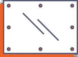 Jednostranný reflexný banner