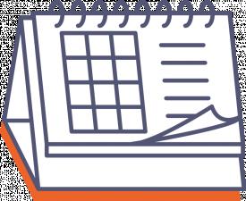 Stolový kalendár so špirálou (týždenný)