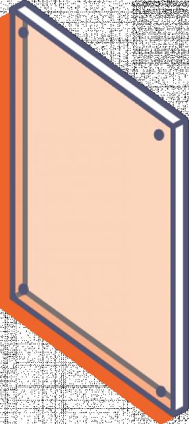Dosky z priehľadného plexiskla bez potlače - frézované s otvormi