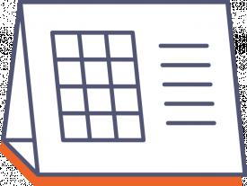 Stolový kalendár s lepeným kalendáriom (mesačný)