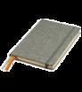 Zápisník A5 s tvrdými doskami a gumičkou - plátnová väzba