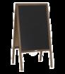 Drevené reklamné áčko s kriedovou tabuľou, bez potlače