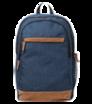 """Univerzálny batoh 15"""" tmavomodrý s hnedými prvkami"""