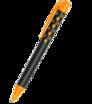 Plastové guličkové pero soft touch s farebnou sponou