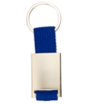 Kovová kľúčenka s textilným prúžkom