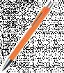 Plastové guličkové pero s klipom z jedného prvku