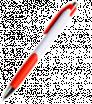 Plastové guličkové pero s farebnými prvkami