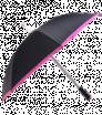 Automatický čierny dáždnik s farebným lemovaním