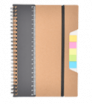 Ekologický zápisník A5 s pravítkom a lepiacimi bločky