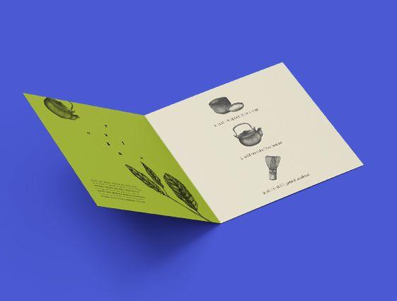 Skladané reklamné letáky
