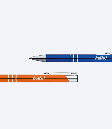 Kovové guličkové pero s chrómovanými prvkami