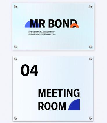 Dverové tabuľky z plexiskla s potlačou