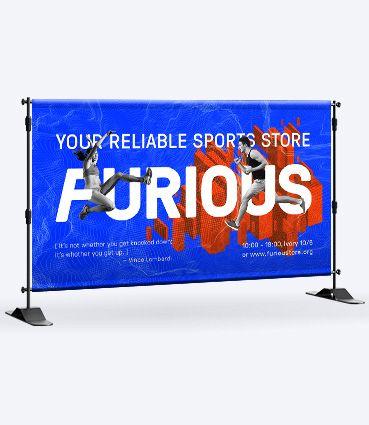 Jednostranný banner s tunelmi