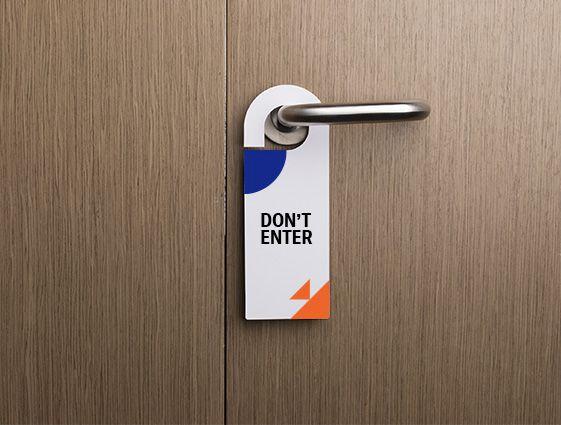 Visačky na dvere online tlač 1