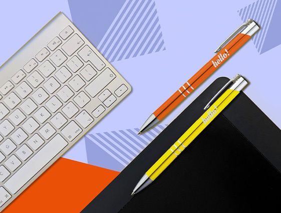 Kovové guličkové pero s chrómovanými prvkami online tlač 1