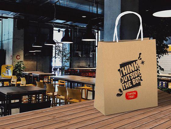 Reklamná taška Kraft online tlač 2