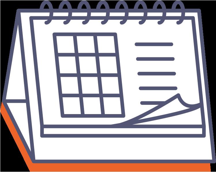 Stolový kalendár so špirálou (mesačný) online tlač
