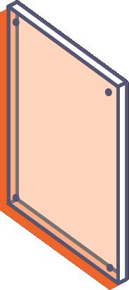 Dosky z priehľadného plexiskla bez potlače - frézované s otvormi online tlač