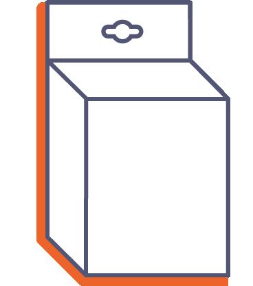 Krabice na produkty - na zavesenie online tlač