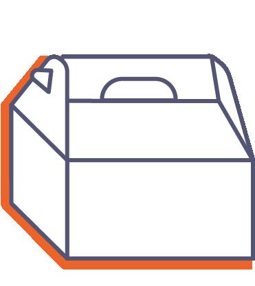 Darčekové krabice s rukoväťou online tlač