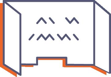 Ochranná prepážka z plexiskla s potlačou online tlač
