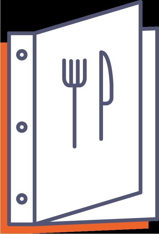 Obal na jedálne a nápojové lístky online tlač