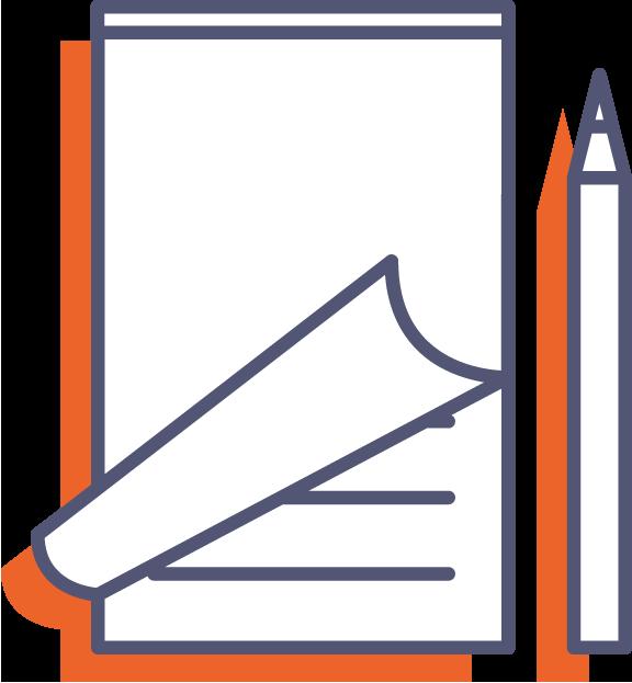 Poznámkové bloky pre čašníkov - s obalom online tlač