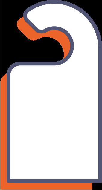 Visačky na dvere online tlač