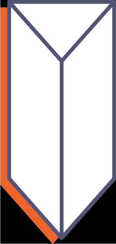 Trojuholníkové stojančeky na stôl - s lepiacim pruhom online tlač