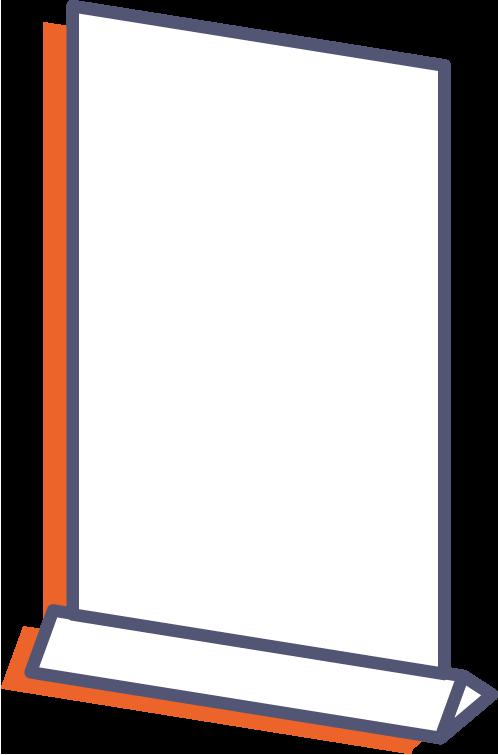 Plastové prezentačné stojany online tlač