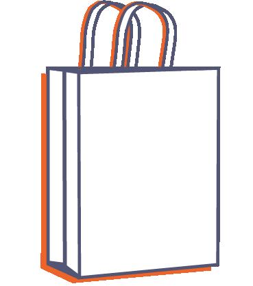 Papierová taška na menubox online tlač
