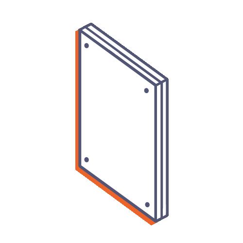 Dverové tabuľky z plexiskla bez potlače online tlač