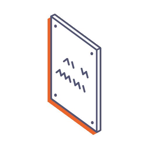Dverové tabuľky z plexiskla s potlačou online tlač