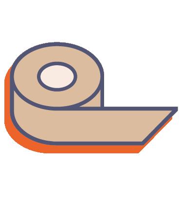 Papierová lepiaca páska s potlačou online tlač